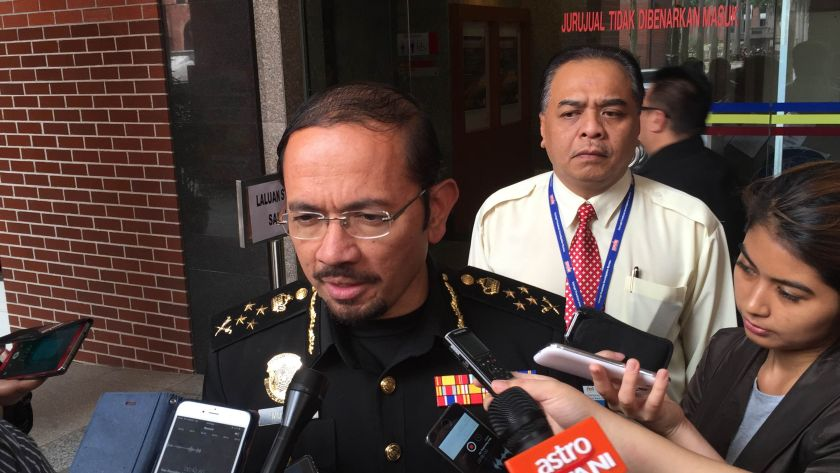 Mustafar said Bahri and Rohaizad will resume their portfolios as special operations division director and strategic communications director respectively. — Picture by Kamles Kumar