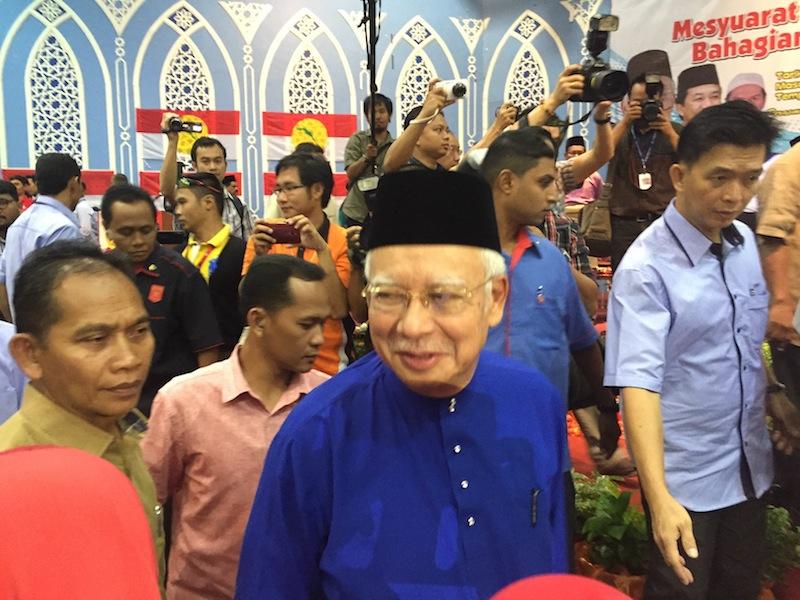 Datuk Seri Najib Razak officiating Umno division delegates meeting in Seremban, August 1, 2015. — Picture by Kamles Kumar