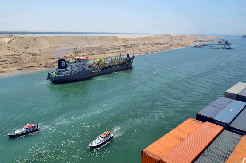 A cargo ship is seen crossing through the New Suez Canal, Ismailia in this July 25, 2015 file photo. — Reuters pic