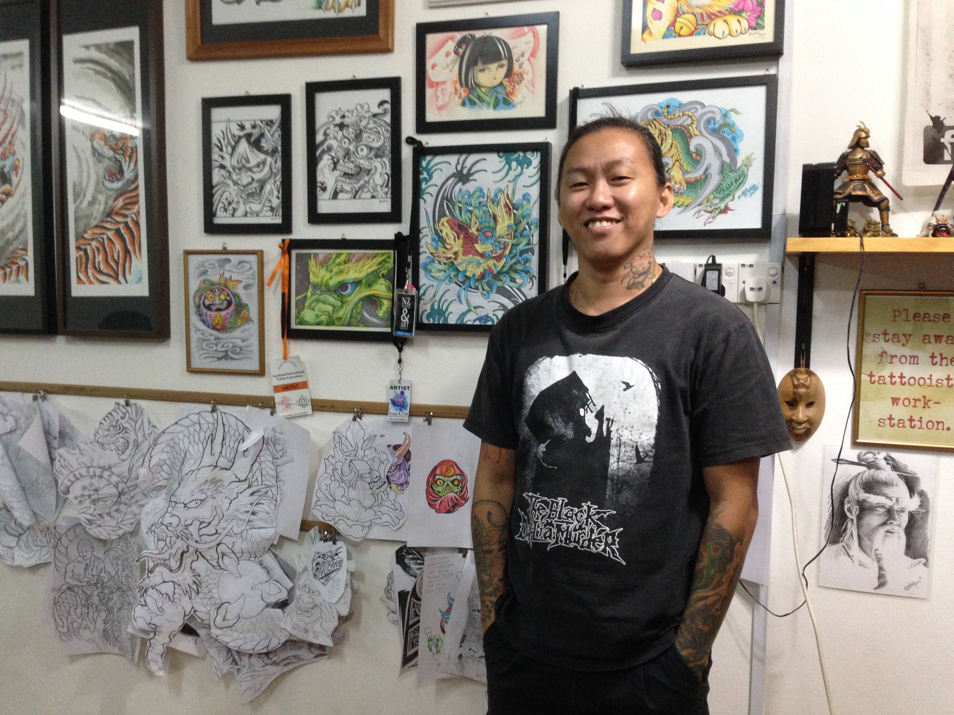 Sabah Tattoo Association acting president Bobby James Aloysius. — Picture by Julia Chan