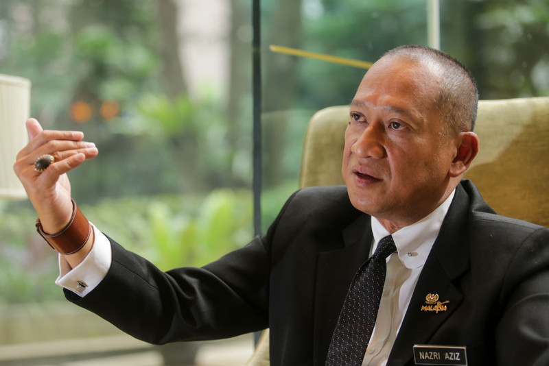 Datuk Seri Nazri Aziz says while the government was fine with being criticised online, those who posted these comments on social media should be responsible for their actions. ― File pic