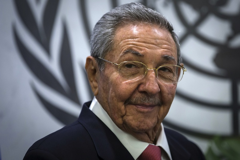 File photo of Cuba's President Raul Castro posing for photos during a photo call in the United Nations Secretary-General's office at the United Nations headquarters in Manhattan, New York, September 26, 2015. — Reuters pic