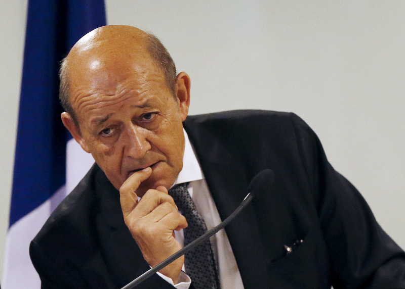 France's Foreign Minister Jean-Yves Le Drian confirmed the imposition of sanctions on Myanmar by the EU. — Reuters pic