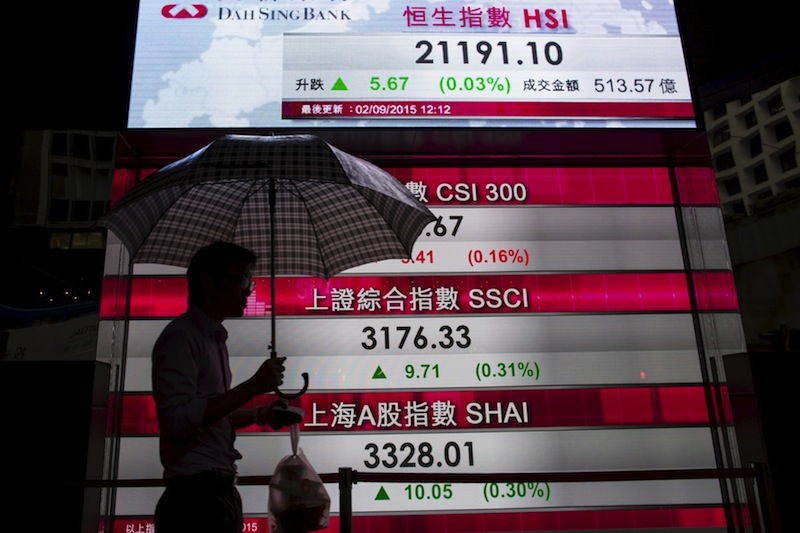 Hong Kong's Hang Seng Index added 0.6 per cent in early trade while the mainland bluechip index CSI300 edged up 0.3 per centahead of March trade figures due to be published today. — Reuters pic