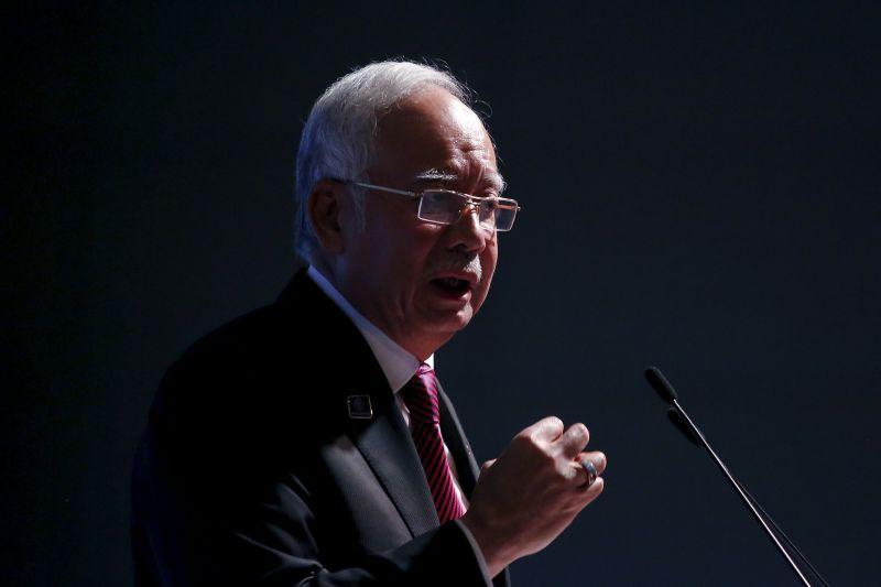 Prime Minister Datuk Seri Najib Razak speaks at the World Capital Market Symposium in Kuala Lumpur, Malaysia, September 3, 2015. ― Reuters pic