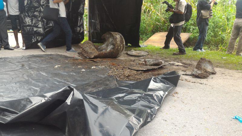 The oil drum where the body was found. ― File pic