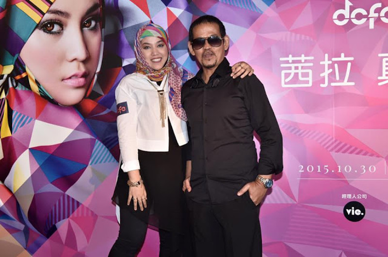 Shila Amzah and her father Amir Amzah, better known as singer ND Lala, at the announcement of her Hong Kong concert in this photo taken from Shila Amzah's Facebook page.