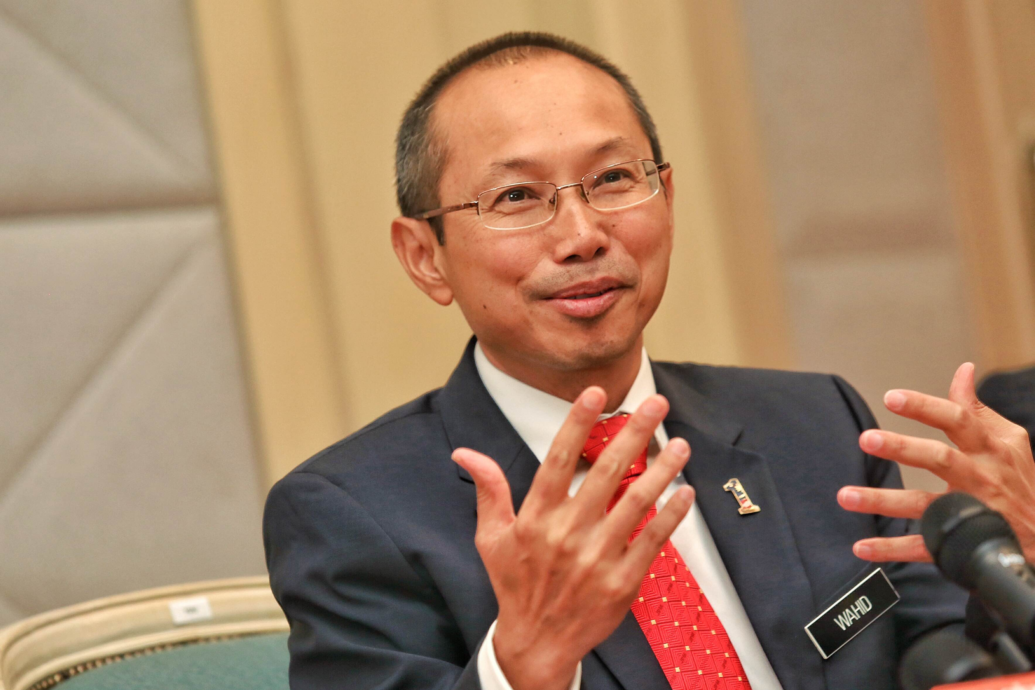 PNB chairman Tan Sri Wahid Omar says the fund management firm has a war chest of RM279 billion. — Picture by Saw Siow Feng