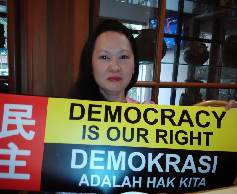 SAPA president Lina Soo says the people of Sarawak have every right to speak if they feel that MA63 conditions have been violated on October 30, 2015. ― Picture by Sulok Tawie