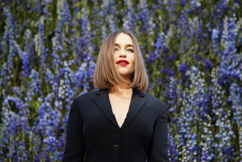 'Game of Thrones' actress Emilia Clarke poses before attending the Spring/Summer 2016 women's ready-to-wear collection show for Dior fashion house during the Fashion Week in Paris, France, October 2, 2015. — Reuters pic