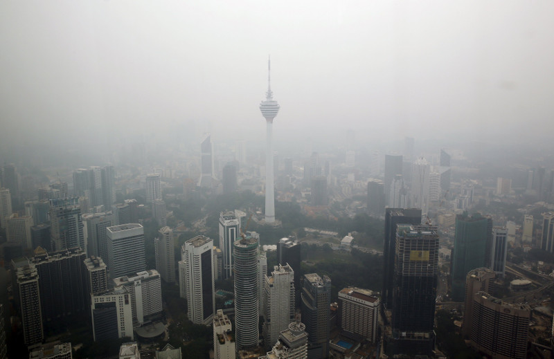 A general view of Kuala Lumpur Tower is seen on a hazy day in Kuala Lumpur, October 22, 2015. — Reuters pic