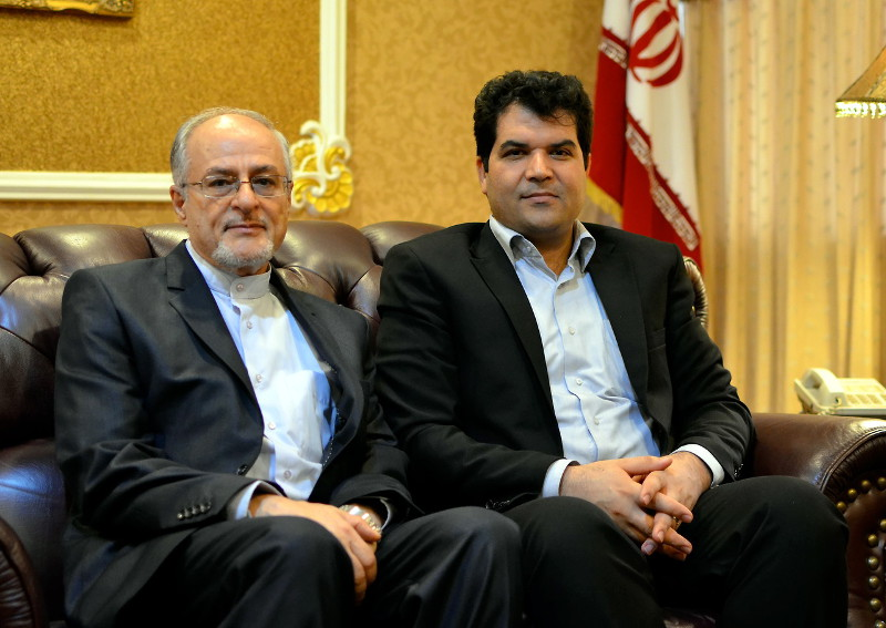 Picture shows Director and Scientific Counsellor of Iranian Students in East Asia, Dr Abbas Ghanbari (right) and Counsellor Hussein Mahmoudi of the Iranian Embassy in Kuala Lumpur, Oct 12, 2015. — Bernama pic