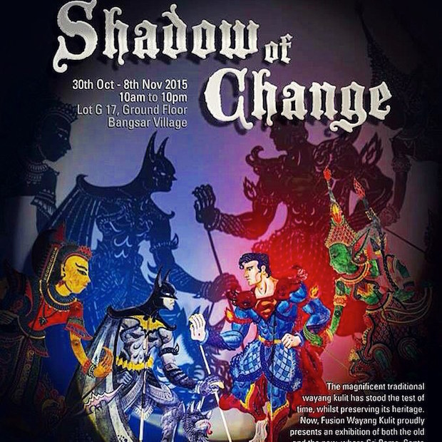 Fusion Wayang Kulit's intricate handcrafted shadow puppets are now on display in Bangsar Village 1.