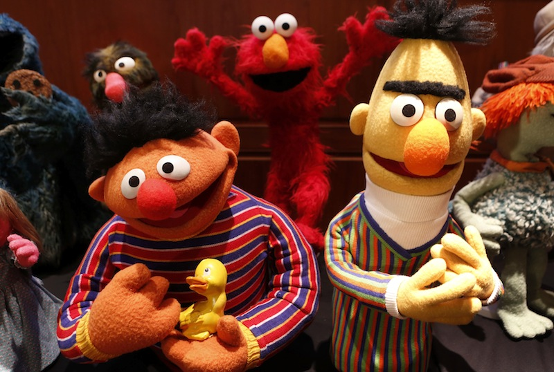 Puppets Ernie and Bert from Sesame Street are seen after they were donated September 24, 2013. — Reuters pic