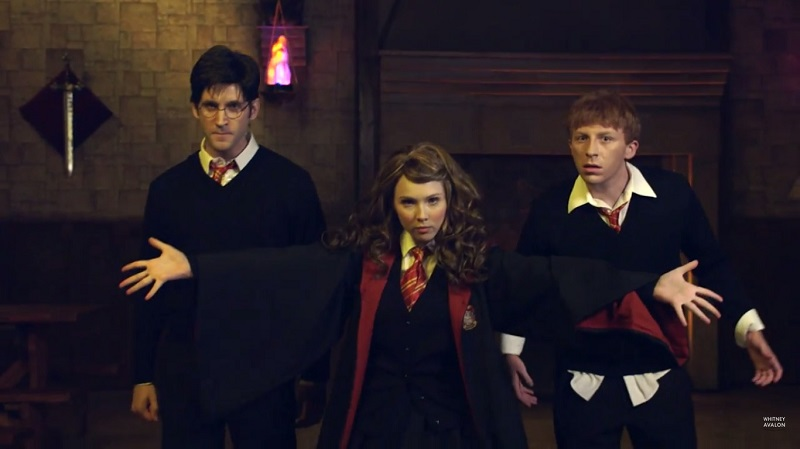 The latest round of popular YouTube series Princess Rap Battle pits Katniss Everdeen against Hermione Granger.