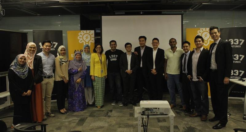 UEM-MAHB BrainChild participants Nov 2015, 1337 Ventures CEO Bikesh Lakhmichand is the middle, wearing a 1337 t-shirt. — DNA pic