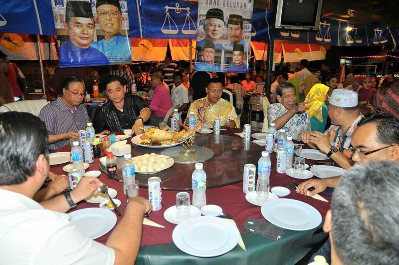 The offending photo, first posted by a user named 'Deadturtles Sabah' on a turtle resort's Facebook page shows Rural and Regional Development Ismail Sabri (second left) and Sabah Umno leaders being served turtle eggs allegedly at the Restoran Indah Keranamu in Sandakan. — Facebook pic