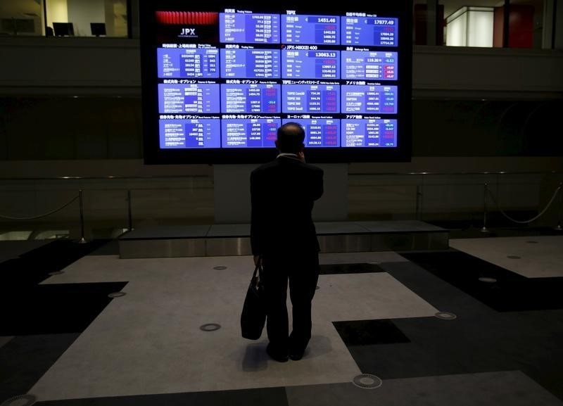 The benchmark Nikkei 225 index was up 0.08 per cent or 22.48 points at 28,906.61 in early trade, while the broader Topix index was down 0.13 per cent or 2.62 points at 1,956.91. — Reuters pic