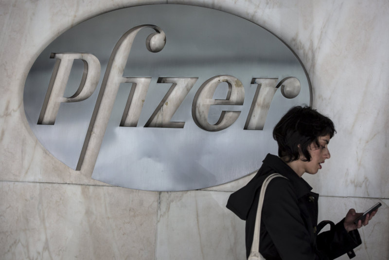 Shares of Pfizer jumped 3.8 per cent, and the stock was the biggest contributor to the S&P 500's gains yesterday. — Reuters pic