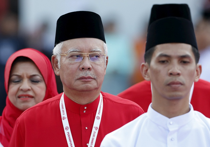 File photo of Prime Minister Datuk Seri Najib Razak inspects the Umno Youth during the annual assembly at the Putra World Trade Centre in Kuala Lumpur, December 10, 2015. — Reuters pic