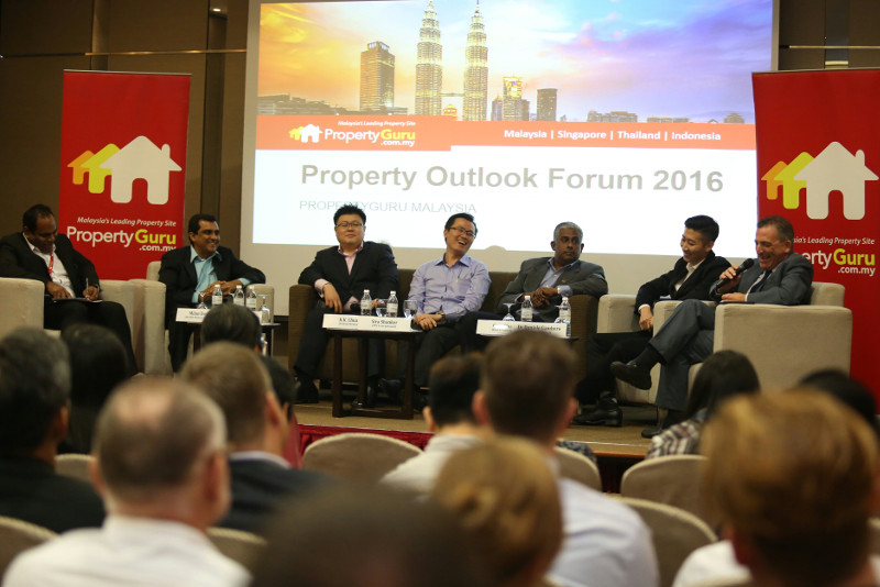 A PropertyGuru's survey suggested that Malaysians who can afford to buy houses abroad favour Australia, Singapore, India and Germany. File picture shows speakers and industry experts at PropertyGuru's 2016 property market outlook event at Bangsar South City, Kuala Lumpur, December 14, 2015. — Picture by Saw Siow Feng