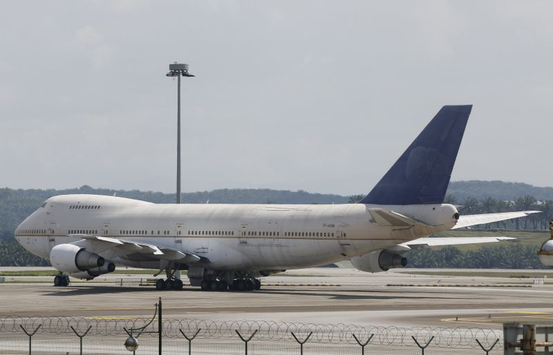 One of three abandoned Boeing 747-200F planes is seen parked on the tarmac at Kuala Lumpur International Airport in Sepang, Malaysia, December 10, 2015. ― Reuters pic