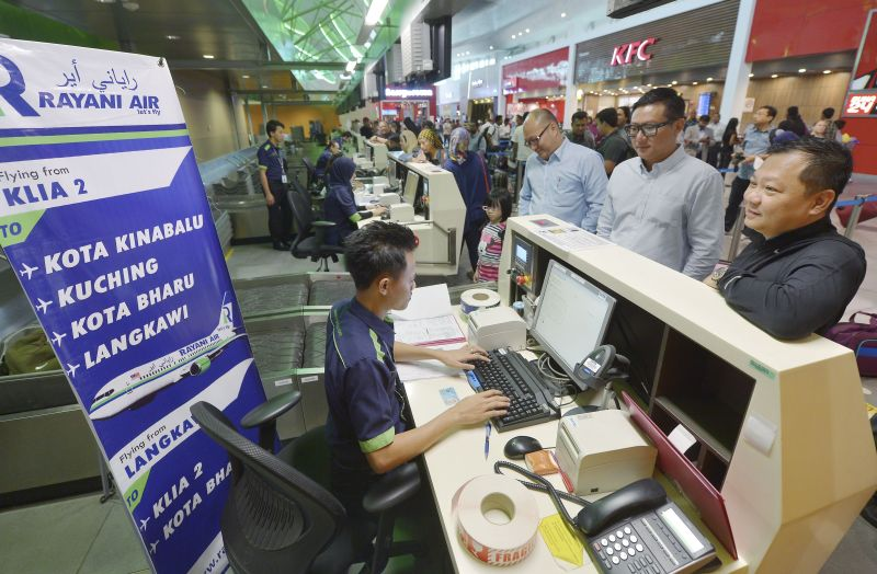 Last week, a group of 40 customers claimed the cheques they received from Rayani Air as refunds had bounced. — Bernama pic