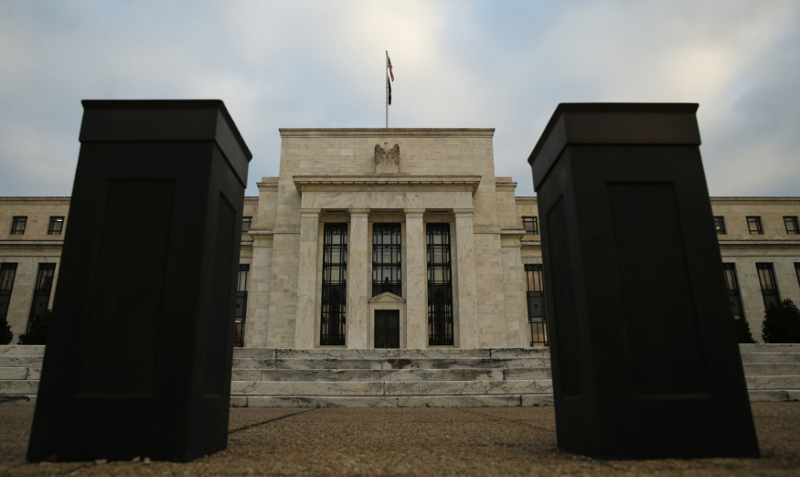 Bollards help secure the entrance to the Federal Reserve in Washington, December 16, 2015. — Reuters pic