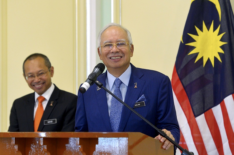 The Swiss Attorney-General's Office says Datuk Seri Najib Razak (right) is not one of the public officials under accusation in the 1MDB probe. ― File pic