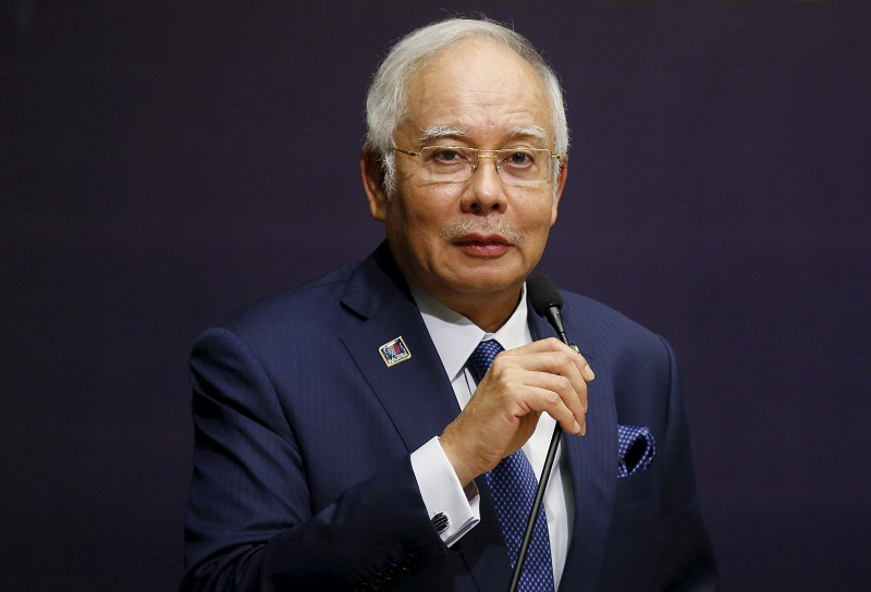 Prime Minister Datuk Seri Najib Razak said in a statement that Attorney-General Tan Sri Mohamed Apandi Ali's decision confirmed his position all along that no crime had been committed. — Reuters pic