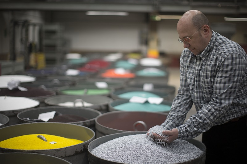 "Petr Pus, the marketing director for Preciosa Ornela, a glass bead factory in Desna, Czech Republic, January 6, 2016. Preciosa's glass beads can be found all over the globe — even, Pus said, among isolated Amazonian tribes. ""I couldn't believe it,"" said Pus, who saw his firm's handiwork in 'National Geographic' last year. ""They were literally wearing our beads."" ― Picture by Uriel Sinai/The New York Times"
