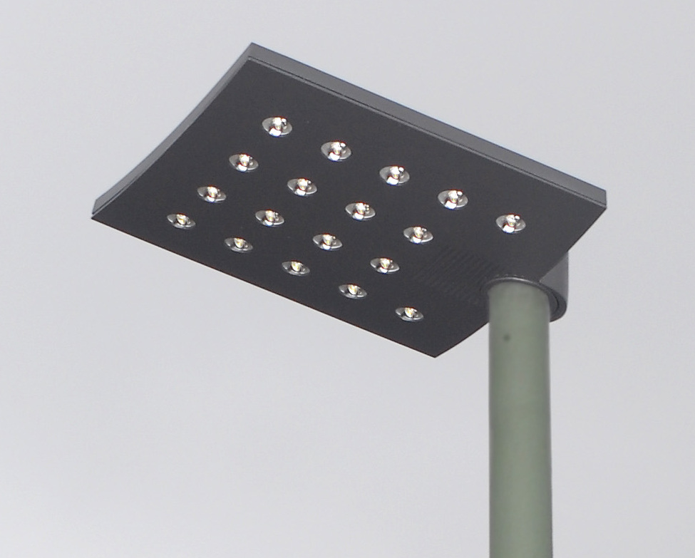 Universiti Malaya researchers have created a new kind of street lamp that mimics human smells to lure in order to trap mosquitoes. File picture shows a LED street lamp. — wiki pic