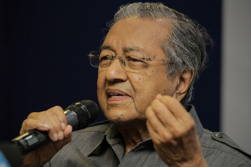 Tun Dr Mahathir Mohamad lamented the loss of his 'child' following the sale of a minority stake in Proton to Geely. — Picture by Yusof Mat Isa