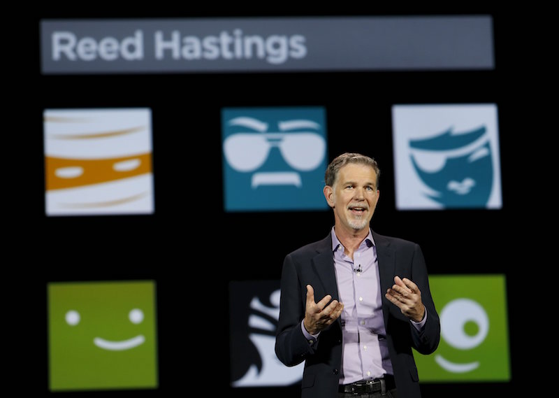 Reed Hastings, co-founder and CEO of Netflix, speaks during a keynote address at the 2016 CES trade show in Las Vegas, Nevada January 6, 2016. — Reuters pic