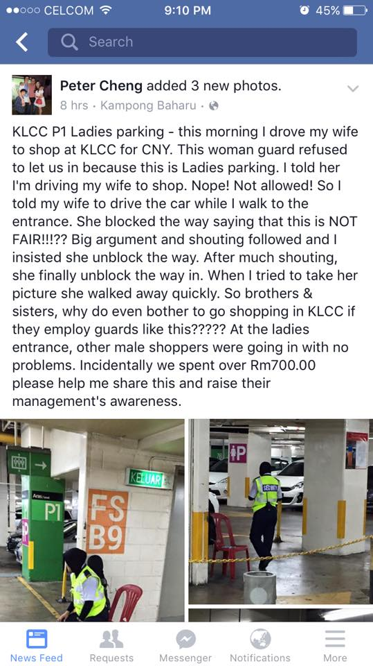 Malay Mail Online spotted Cheng's posting in a screenshot put up yesterday on the page of Facebook user JengYean Won. — Picture courtesy of Facebook/JengYean Won