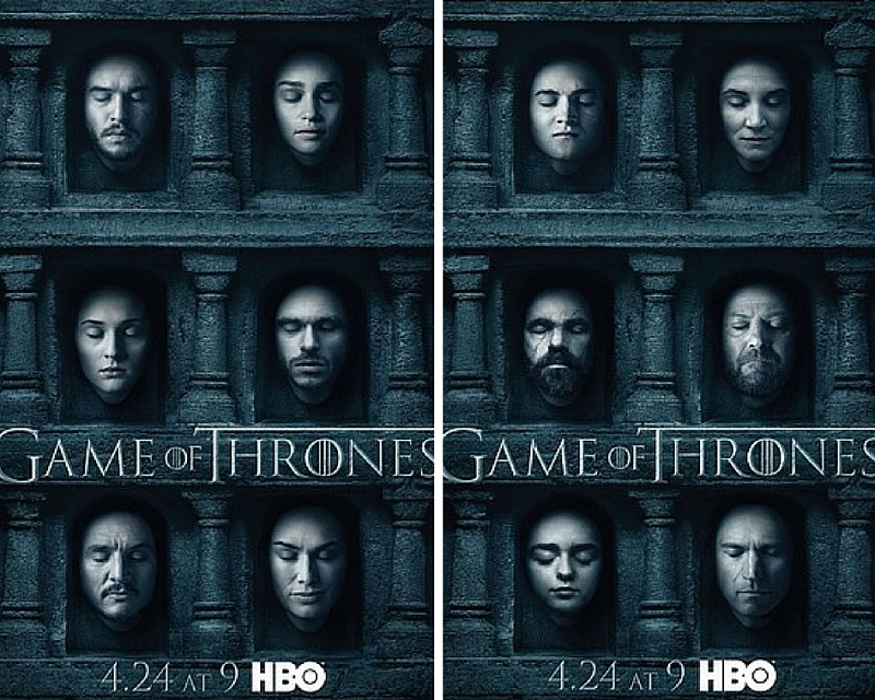 HBO released a series of posters via social media for its hit fantasy series 'Game Of Thrones'.