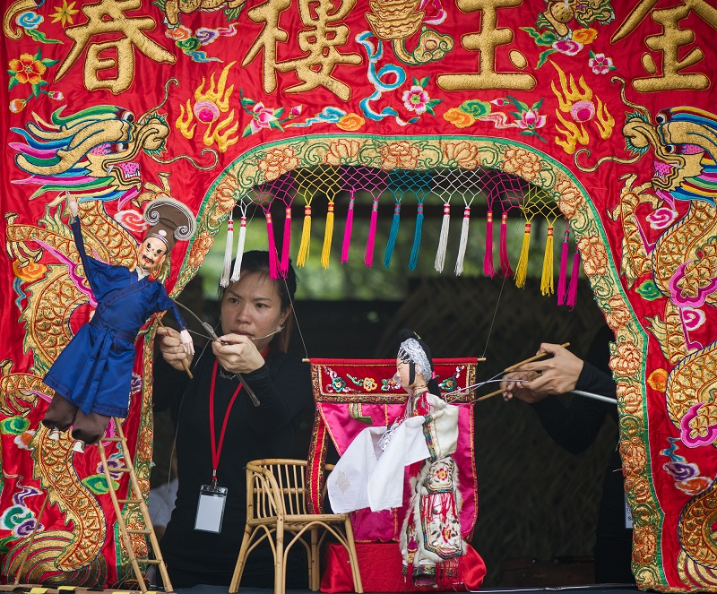 The Teochew Puppetry tradition of Penang is a distinct and increasingly rare form of puppetry that narrates folk tales and legends through a skilful play of marionette puppets. — Picture courtesy of Pusaka