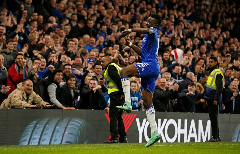 File photo of Bertrand Traore celebrating scoring the fifth goal for Chelsea against Manchester City in an English FA Cup fifth round match at Stamford Bridge, February 21, 2016. — Reuters pic