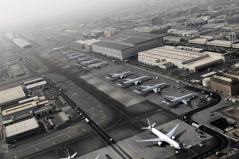 Traffic at Dubai International Airport rose slightly to 89.15 million passengers. — AFP pic