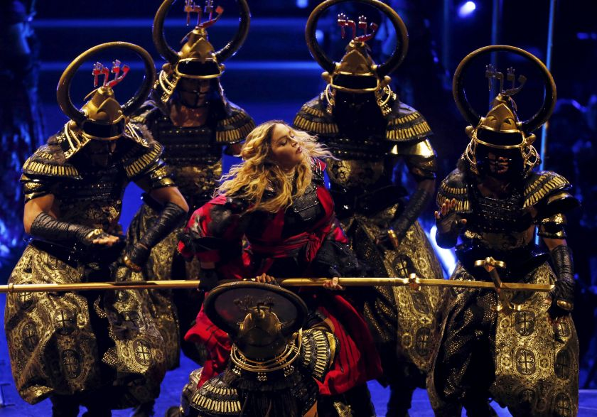 Madonna performs during her Rebel Heart Tour concert at Studio City in Macau February 21, 2016. — Reuters pic