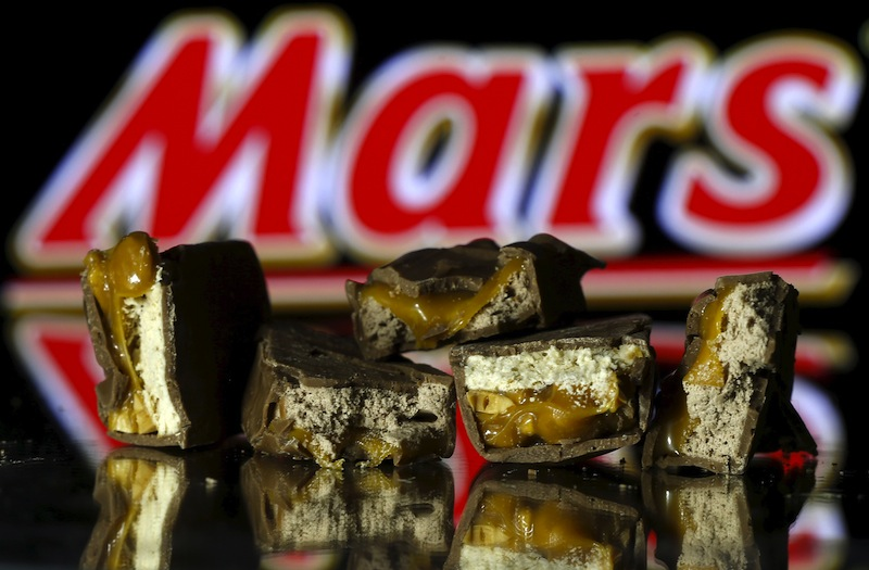 Mars bars are seen in this picture illustration taken February 23, 2016. — Reuters pic