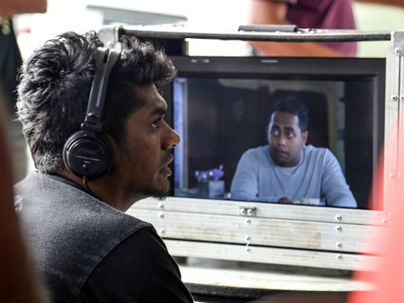 Director-writer Shanjhey Kumar Perumal on set of 'Jagat'. Finas said that all candidates in the now-abolished non-Bahasa Malaysia categories, including 'Jagat', will be included in the main categories instead. — Picture by Cinema Online