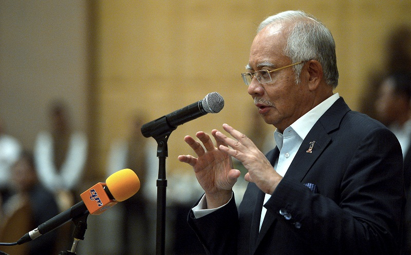 Prime Minister Datuk Seri Najib Razak said the 118-storey tower named Merdeka PNB118 slated for completion by 2020 will be second only to the Shanghai Tower in terms of height. — Bernama pic