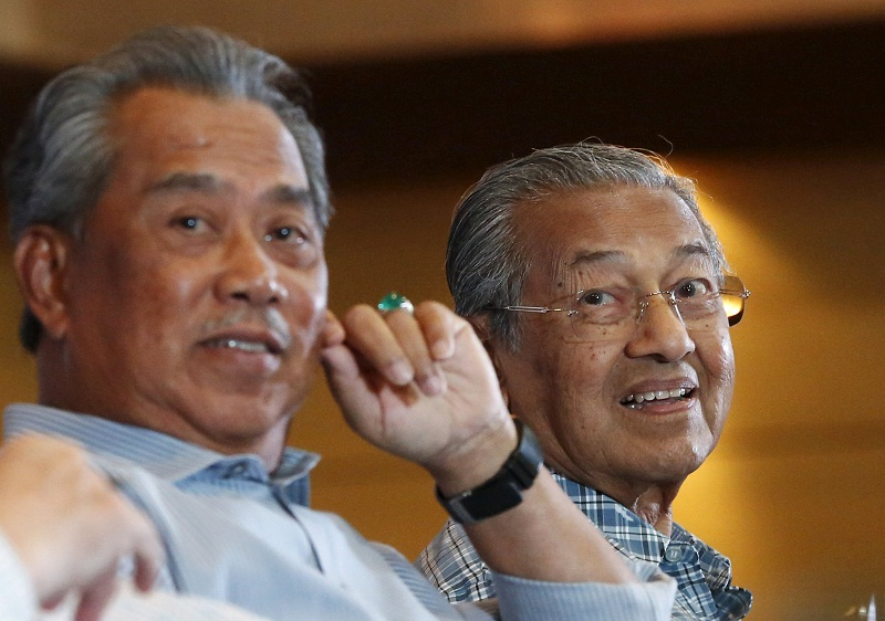 Dr Mahathir likened Prime Minister Tan Sri Muhyiddin Yassin to a dictator for opting to declare a state of Emergency amid the Covid-19 pandemic in the country. — Reuters pic