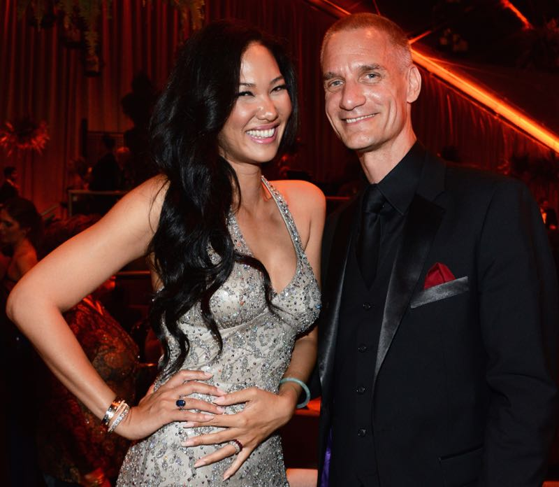 File photo of Tim Leissner with his wife former supermodel Kimora Lee Simmons. Leissner pled guilty to bribery charges in the US last August for his role in helping raise funds through bond offerings for 1MDB. — AFP pic