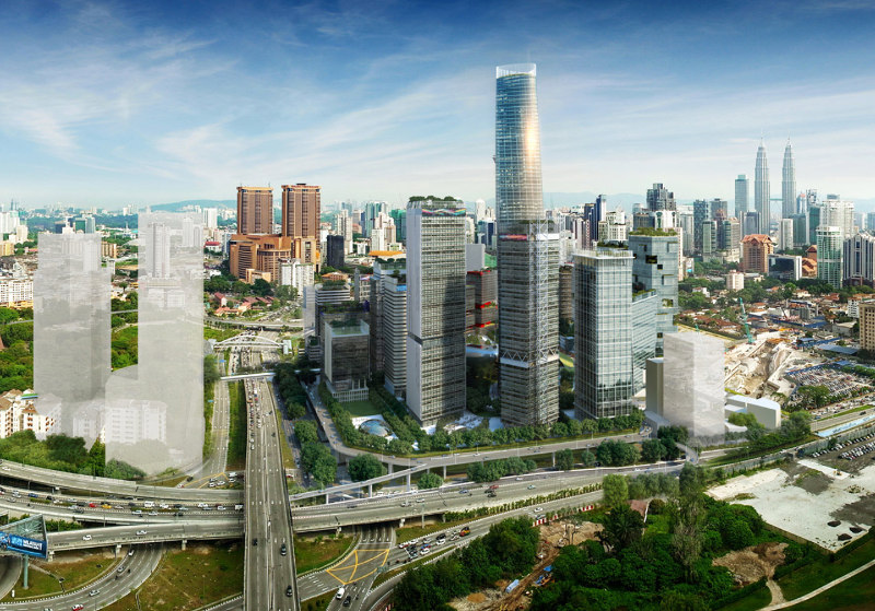 An artist's impression showing the Tun Razak Exchange financial district of Kuala Lumpur. — Picture courtesy of trx.my website