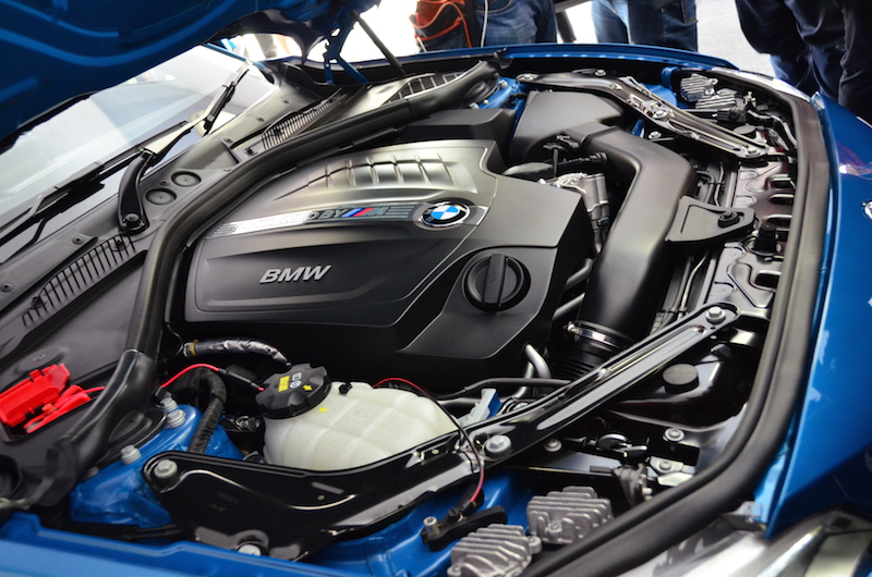 The M2 Coupe comes equipped with an up-rated in-line 6-cylinder engine form the BMW stables.