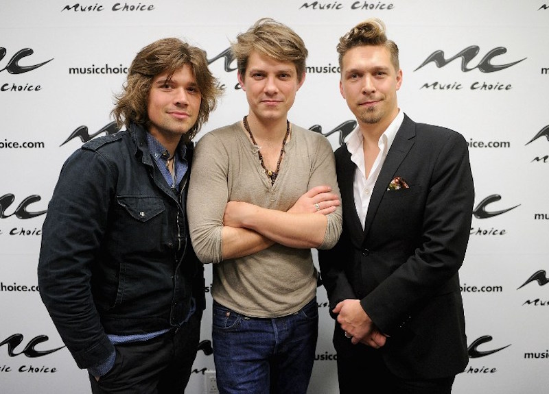 Zac Hanson, Taylor Hanson and Isaac Hanson of the band Hanson in New York April 12, 2013. — AFP pic