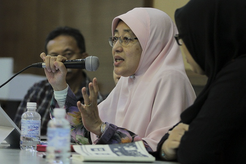 Muslim non-governmental organisation Pertubuhan Ikram Malaysia (Ikram)'s women's wing chief Datin Paduka Che Asmah Ibrahim.