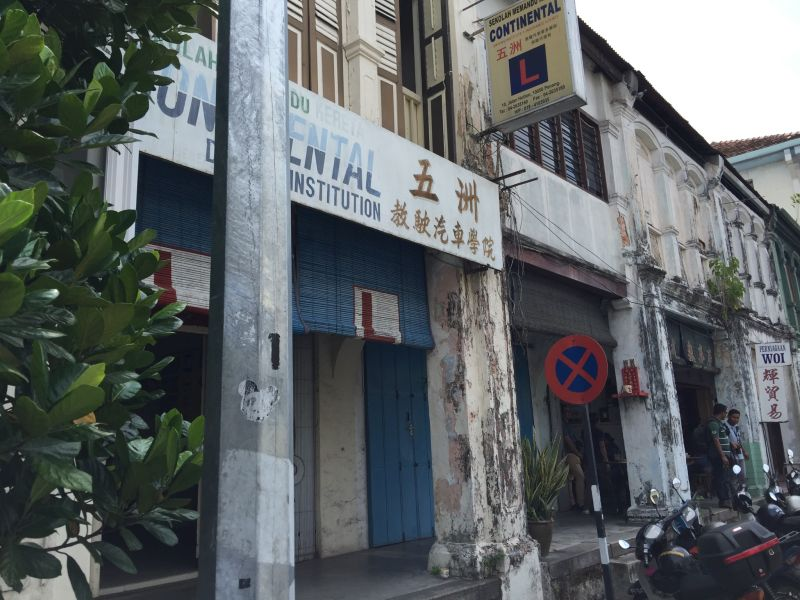 The row of shophouses at Hutton Lane facing eviction.